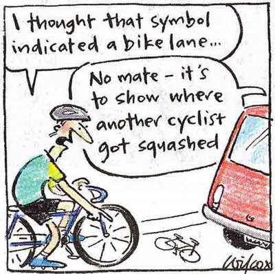 bike lane cartoon